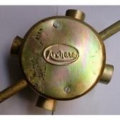 4 in. Gold Fan Box with Socket